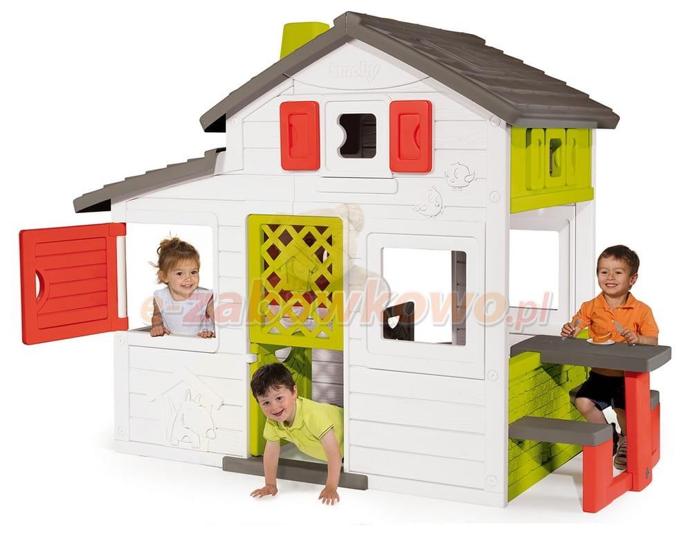 Smoby domek friends z kuchni i dzwonkiem 810200 domki for Casa juguete jardin