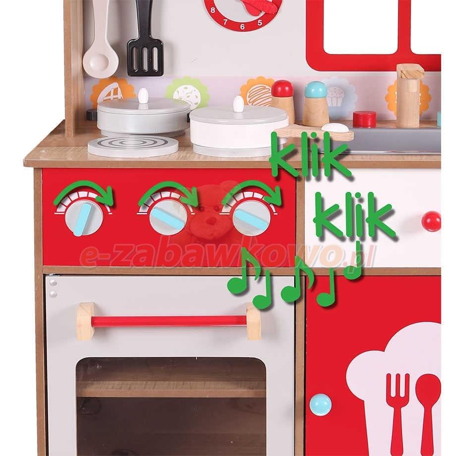ECOTOYS DREWNIANA KUCHNIA DO ZABAWY Z WYPOSAŻENIEM 4253   -> Kuchnia Drewniana Koszt
