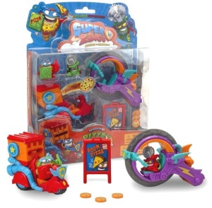 MAGICBOX SUPER ZINGS 3 ZESTAW PIZZA RIDERS + 2 FIGURKI