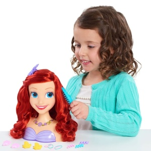 JUST PLAY GŁOWA DO STYLIZACJI DISNEY PRINCESS ARIEL 14el. 87110