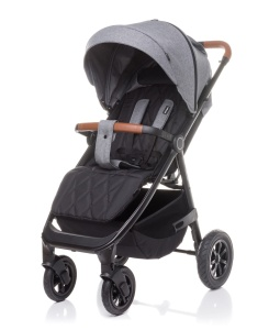 4BABY WÓZEK SPACEROWY STINGER AIR DO 22 KG GREY POMPOWANE KOŁA