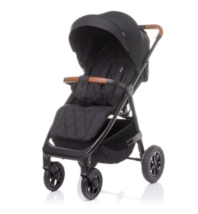 4BABY WÓZEK SPACEROWY STINGER AIR DO 22 KG BLACK POMPOWANE KOŁA