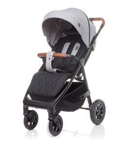 4BABY WÓZEK SPACEROWY STINGER AIR DO 22 KG LIGHT GREY POMPOWANE KOŁA