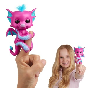 WOWWEE FINGERLINGS INTERAKTYWNY SMOK SANDY RÓŻOWY 3583