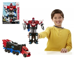 HASBRO TRANSFORMERS ROBOTS IN DISGUISE MEGA ONE STEP OPTIMUS PRIME B1564