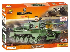 COBI KLOCKI SMALL ARMY WORLD OF TANKS CZOŁG A34 COMET 530el. 3014