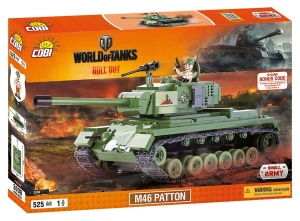 COBI KLOCKI SMALL ARMY WORLD OF TANKS CZOŁG M46 PATTON 525el. 3008