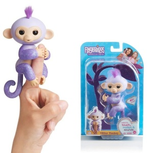 WOWWEE FINGERLINGS INTERAKTYWNA MAŁPKA KIKI BROKATOWA 3762A