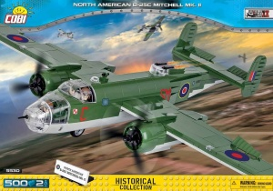 COBI KLOCKI SMALL ARMY WW2 BOMBOWIEC NORTH AMERICAN B-25C MITCHELL 500el. 5530