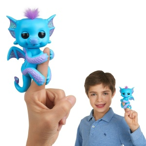 WOWWEE FINGERLINGS INTERAKTYWNY SMOK TARA BŁĘKITNY 3581