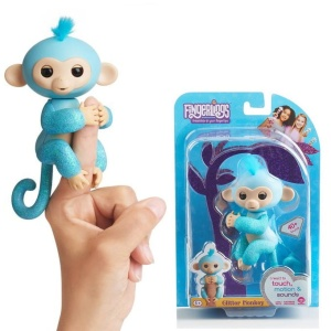 WOWWEE FINGERLINGS INTERAKTYWNA MAŁPKA AMELIA BROKATOWA 3761A