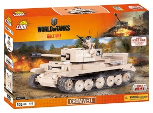 COBI KLOCKI SMALL ARMY WORLD OF TANKS CZOŁG CROMWELL 505el. 3002