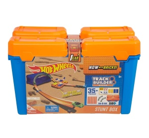 MATTEL HOT WHEELS TRACK BUILDER TOR KASKADERSKIE PUDEŁKO ORANGE DWW95