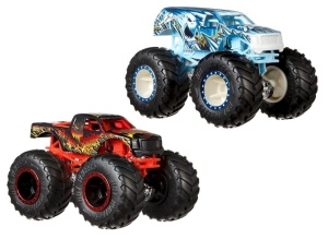 MATTEL HOT WHEELS MONSTER TRUCKS SAMOCHÓD POJAZD 2-PAK SCORCHER VS. 32 DEGREES 1:64 FYJ67
