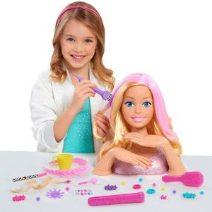 JUST PLAY GŁOWA DO STYLIZACJI BARBIE BLOND DELUXE COLOR & STYLE 62955