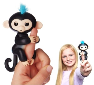 WOWWEE FINGERLINGS INTERAKTYWNA MAŁPKA FINN CZARNA 3701