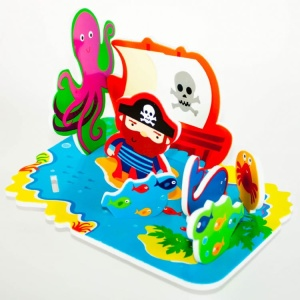 MEADOW KIDS SCENKA DO KĄPIELI 3D WYSPA PIRATÓW MK036