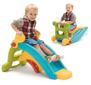 FISHER PRICE ZJEŻDŻALNIA BUJAK 2w1 SLIDE TO ROCKER 2024