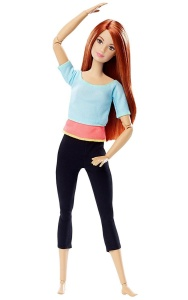 MATTEL LALKA BARBIE MADE TO MOVE PASTEL BLUE TOP DPP74