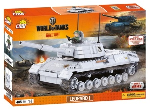 COBI KLOCKI SMALL ARMY WORLD OF TANKS CZOŁG LEOPARD I 485el. 3009