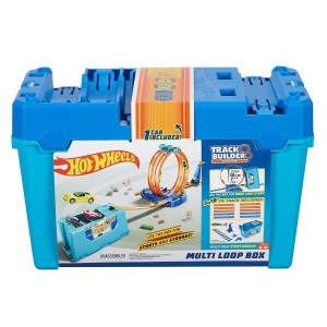 MATTEL HOT WHEELS TRACK BUILDER TOR KASKADERSKIE PUDEŁKO BLUE FLK90