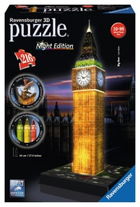 RAVENSBURGER PUZZLE 3D BIG BEN NOCĄ LED 216el. 125883