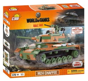 COBI KLOCKI SMALL ARMY WORLD OF TANKS CZOŁG M24 CHAFFEE 370el. 3013