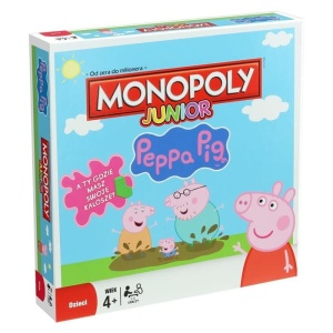 WINNING MOVES GRA PLANSZOWA MONOPOLY JUNIOR ŚWINKA PEPPA 27601