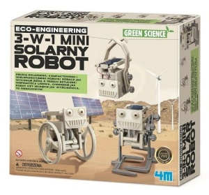 4M GREEN SCIENCE MINI ROBOT SOLARNY 3w1 3377