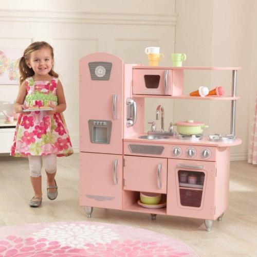 Kidkraft Drewniana Kuchnia Do Zabawy Pink Vintage 53179