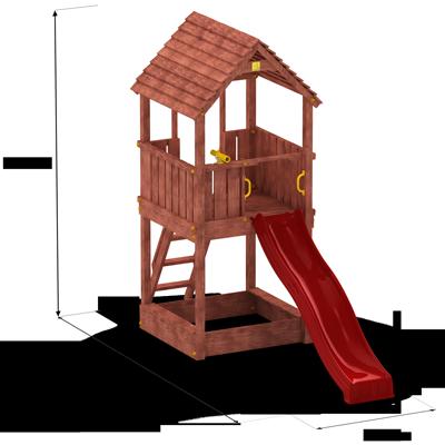 Masywnie FUNGOO PLAC ZABAW WIEŻA JOY 00555 - DREWNIANE - sklep z zabawkami UR64